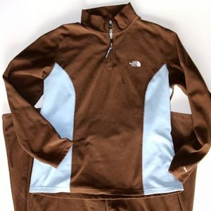 The North Face Women's Brown/Aqua Blue Track Suit